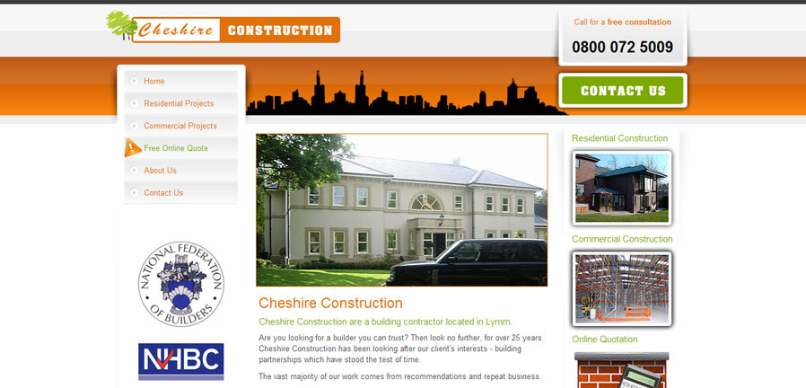 Cheshire Construction Homepage