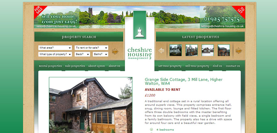 Cheshire Housing property page